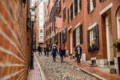 Boston, MA - 2/10/18 - #365 (joefgaylor) Tags: boston massachusetts americana american america americanflag city cityscape newengland acorn street streetphotography urban urbex