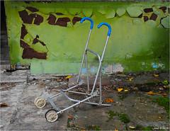 The Pripyat Police Station. (Aad P.) Tags: chernobyl чорнобиль pripyat припять ukraine україна sovietunion cccp nuclearpowerplant radioactivity radiation urbex urbexphotography exclusionzone policestation policeoffice pram