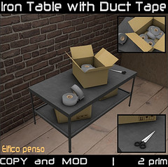 Iron Table with Duct Tape (Aksanka93Resident) Tags: iron table with duct tape decor