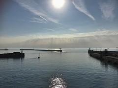 Harbour light- Explore #157 (green-dinosaur) Tags: explore sky light kent iphone6 suefagg sunlight dover sea water morning