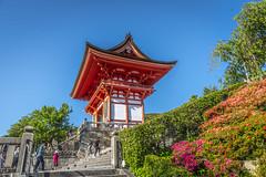 KYOTO-FUSHIMI INARI SHRINE AND KIYOMIZU TEMPLE (Steven Godwin) Tags: japan kyoto shrines temple gates red shinto religion buildings people costume streetlife colour torri architecture