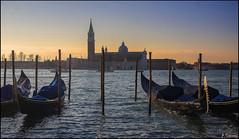 Sunset (antoniocamero21) Tags: atardecer paisaje marina venecia italia color foto sony góndolas laguna composición maggiore basílica
