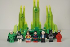 Lego Kingdom Come for SDCC? (Alien Hand) Tags: lego dc kingdom come sdcc green lantern wonder woman spectre superman batman flash