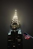 The Chrysler Building at Night in the Fog with Flag. (chriswalkernyc) Tags: chryslerbuilding newyork sony rx100