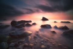 last  light (Gian Paolo Chiesi) Tags: liguria sunset rocks long exposure sony seascape water