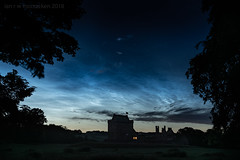 Noctilucence (ianrwmccracken) Tags: castle blue d750 building tree silhouette cloud nikon nikkor2470mmf28 sky fife lowlight star night balgonie