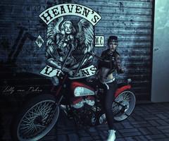 ρяσυɔ νıхεп (♣♦ Lilly von Nekro ♦♣) Tags: babes beauty bike art dark fashion tattoo sl secondlife second sexy 3d firestorm life girls night music moon people piercing pose illustration virtual city