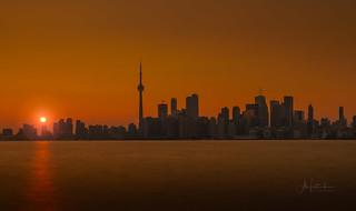 Sunset over Toronto, Canada