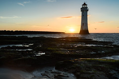 Perch Rock, Lighthouse. (Louis Alexander Smith) Tags: nikond750 nikon carlzeiss carlzeiss35mmdistagonf2 lighthouse newbrighton perchrock beach sunset