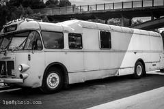 Old Bus (1968photo) Tags: vehicle bus fordon old blackandwhite blackandwhitephoto blackandwhitephotography bw sv svartvit monochrome monotone transport publictransportation wheels road window retro