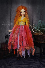 Sunset Miracle (AyuAna) Tags: bjd ball jointed doll dollfie ayuana design handmade ooak clothing clothes dress set gown robe vetement fantasy style fashion couture slim msd mnf minifee fairyland size minidesign daraki remy light tan skin