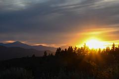 Setting sun (Laura McWhorter) Tags: sunset oregon highdesert cascade mountains