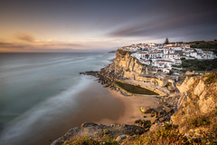 The charm of sunset (Sizun Eye) Tags: sintra sintracascaisnaturalpark azenhasdomar little village cove bay beach cliffs coast atlanticocean ocean sunset portugal sizuneye nikon nikond750 nikkor1424mmf28 nikkor 1424mm 2018 summer charm charming white longexposure le poselongue nisifilters leefilters