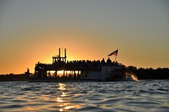 Webster Lake 7-4_06_DSC_6870_WM (Nomad Joe) Tags: websterlake sunset water independenceday 4thofjuly dixie sternwheeler riverboat northwebster in usa