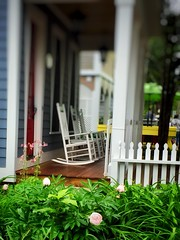Rest From Toil (Ellery Images) Tags: elleryimages summer garden flowers rocking chair porch weekend toil rest friday picket fence hff