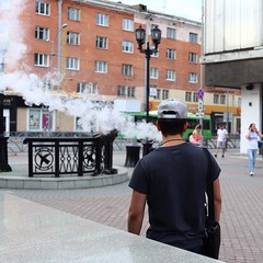 On Fire. In camera jpg, cropped #canon #startingtoclick #canon_eos_77d (N.A. Dikin) Tags: canonefs24mm28stm smoking smoke citylife city realpeople street russia yekaterinburg canoneos77d canon startingtoclick