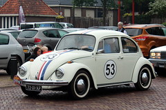 1973 Volkswagen 'beetle' (Davydutchy) Tags: vroem joure dejouwer fryslân friesland frisia frise nederland netherlands niederlande paysbas holland classic oldtimer klassiker klassiek klassisch veterán car vehicle auto automobiel automobile voiture rit tocht rondrit ausfahrt ride vw volkswagen herbie herby disney beetle käfer kever coccinelle 53 german deutsch