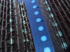 Dotted line (Ulrich Neitzel) Tags: architecture architektur building distorted dots facade fassade gebäude glas glass hamburg mzuiko918mm olympusem1 reflection spiegelung stpauli tanzendetürme