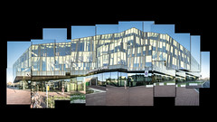 Municipal office reflections (glukorizon) Tags: 52weeksof2018 blauw blue centrum collage delft geel gemeentehuis hockneymosaic lagen layering municipaloffice nederland railwaystation reflectie reflection spiegeling station sunny yellow zonnig zuidholland joiner