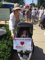 EcoMadres at the Families Belong Together March