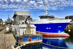 BF83 Audacious - Macduff Harbour - Aberdeenshire Scotland - 3/7/2018 (DanoAberdeen) Tags: bf83audacious bf83 macduff danoaberdeen candid amateur 2018 autumn summer winter spring seafarers maritime whitefish trawlers shipbuilding trawlermen scottishtrawlers scottishwater boat vessel ship lifeatsea shipyard peterhead fraserburgh banff aberdeen aberdeenshire haddock cod salmon fisheries creels porn clouds wife macduffscotland macduffshipbuilders uk scottish british shipspotting