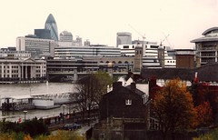 London.  November 8th. 2003 (Cynthia of Harborough) Tags: 2003 architecture boats bridges cars people piers rivers towers trees views water