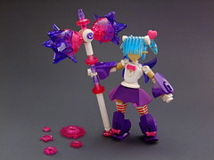 Petunia the Pummeler Pixie (Djokson) Tags: fairy pixie magical girl hammer crystal flowers pink purple white blue cute djokson lego bionicle moc model toy