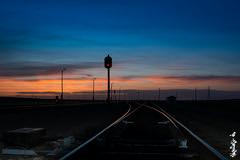 Sunset on the Gobi desert... (N.Batkhurel) Tags: season spring sky sunset signal railway railfan 1520 railwaytrack clouds mongolia monrailpic gobi gobidesert dornogobi ngc nikon nikond5200 24120mm nikkor