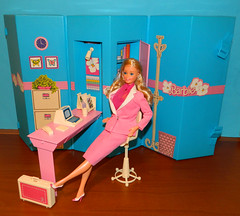 Barbie Home & Office (1984) - pose 1 (Nexira) Tags: barbie home office 1984 dining room set 1985