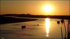 Magical evening (Armelle85) Tags: extérieur nature paysage coucher de soleil sunset port bateaux silhouette reflet ombre lumière fleuve eau ciel mer océan