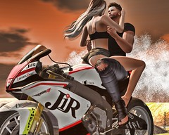 Ride With Me (Milena Inaka ♥) Tags: poses secret secondlife sl slblog blogsl moto couple revelation