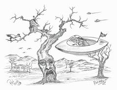 Runabout (rod1691) Tags: myart art sketchbook bw scfi grey concept custom car retro space hotrod drawing pencil h2 hb original story fantasy funny tale automotive illustration greyscale moonpies sketch sexy voodoo