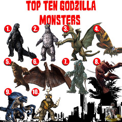 Top Ten Godzilla Monsters (AntMan3001) Tags: top ten godzilla monsters