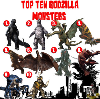 Top Ten Godzilla Monsters