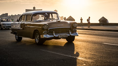 Cuban Classic Car (kuhnmi) Tags: car classiccar oldtimer chevrolet auto automobil taxi cab pkw street road sunlight eveningsun sonne gegenlicht abendsonne malecon havana havanna habana kuba cuba driving drive fahrt fahren autofahrt
