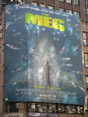 The Meg 2018 Film Billboard on Broadway NYC 5484 (Brechtbug) Tags: the meg 2018 billboard film based 1997 science fiction book a novel deep terror by steve alten giant shark movie that has bounced around studios for two decades megalodon monster broadway 36th st poster jaws like summer august holiday ocean creature spooky sea monsters nyc 07152018 new york city midtown west side street