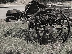 Forgotten Pupose (skipmoore) Tags: hoodriver farming equipment wheel antique relic