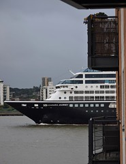Azamara Journey (1) @ Gallions Reach 18-06-18 (AJBC_1) Tags: riverthames cruiseship gallionsreach london ©ajc dlrblog boat vessel ship cruiseliner passengership transport transportation shipping ukshipping england unitedkingdom uk liner northwoolwich eastlondon newham londonboroughofnewham passengerliner ajbc1 nikond5300 greatbritain gb shipsinpictures stormclouds
