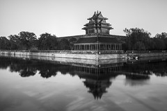 Forbidden City (0verexposed) Tags: forbiddencity china beijing asia leica monochrom typ246 travel travelphotography 35mm summicron f2 longexposure history moat trees night smog blackandwhite bw