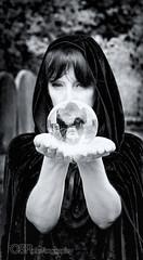 (OSR Photography) Tags: gothic goth bw blackandwhite dramatic cemetery graveyard damned thedamned phantasmagoria phantasm crystal crystalball ball glass