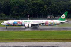 EVA Air   Boeing 777-300ER   B-16722   Sanrio Characters livery   Singapore Changi (Dennis HKG) Tags: aircraft airplane airport plane planespotting staralliance canon 7d 100400 singapore changi wsss sin eva br evaair taiwan boeing 777 777300 boeing777 boeing777300 777300er boeing777300er b16722 sanrio hellokitty