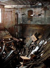 Plans Fell Through (ⓦeͤ █ iͥ rͬ dͩLiͥ █ G̷̃̊̏̂̓͂̅) Tags: abandoned urbex urban decay asbestos abstract abandonment mill factory trespassing creepy eclectic collapse floor building architecture