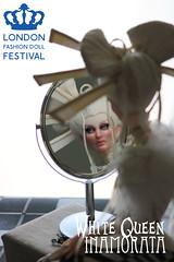 White Queen - Inamorata OOAK (em`lia) Tags: inamorata inamoratadoll emiliacouture emlia aliceinwonderland whitequeen samurail geisha chess armour lookingglass valerie