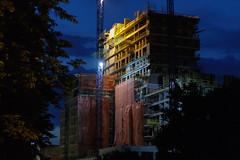 Under Construction (gorka.tomasz) Tags: łódź lodz poland polska architectural architektura lowlight night city building budynek noc miasto budowa construction canon 7dmk2 50mm f18