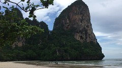 Railay Beach, Thailand (Kirk Stauffer) Tags: kirk stauffer photographer nikon d4 adorable amazing awesome beautiful charming fabulous pretty stunning wonderful outdoors outside water tropical rain monsoon nature beach sand limestone longtail boats video
