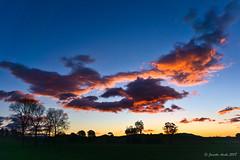 Tassie sunset (NettyA) Tags: australia sheffield tasmania tassie clouds silhouette sky sunset