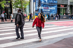 San Francisco 2018 (burnt dirt) Tags: sanfrancisco california vacation town city street road sidewalk crossing streetcar cablecar tree building store restaurant people person girl woman man couple group lovers friends family holdinghands candid documentary streetphotography turnaround portrait fujifilm xt1 color laugh smile young old asian latina white european europe korean chinese thai dress skirt denim shorts boots heels leather tights leggings yogapants shorthair longhair cellphone glasses sunglasses blonde brunette redhead tattoo pretty beautiful selfie fashion japanese red gray turn hat
