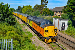37099 + 37254 - March West Junction - 23/06/18. (TRphotography04) Tags: colas rail freight 37099 merl evans 1947 2016 37254 cardiff canton thunder past march west junction hauling 1q86 1013 down rs derby rtcnetwork