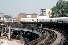 CTA Ravenswood Halsted curve 8-27-90 4 (jsmatlak) Tags: chicago cta l elevated subway metro train electric railway rapid transit 6000