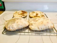Pita Bread (simbajak) Tags: bread pita pocket baked homemade
